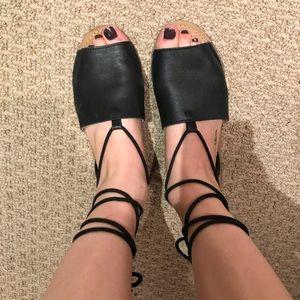 Topshop Wrap Sandals